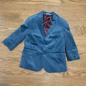 Little Boys blue velvet suit jacket blazer size 3
